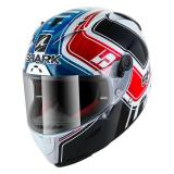 SHARKヘルメット RACE-R PRO Replica_Zarco_GP_France_2018 ( White Blue Red /WBR)